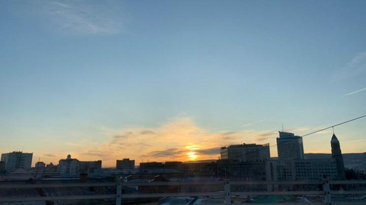 Красноярское небо озарил восхитительный рассвет