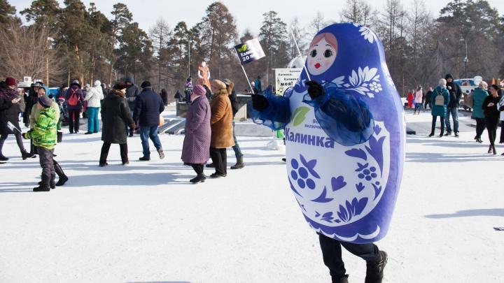 Южноуральцы отпраздновали широкую Масленицу с «Калинкой»