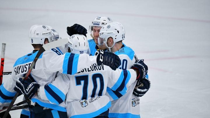 Вырвали победу: ХК «Сибирь» обыграл московский «Спартак»