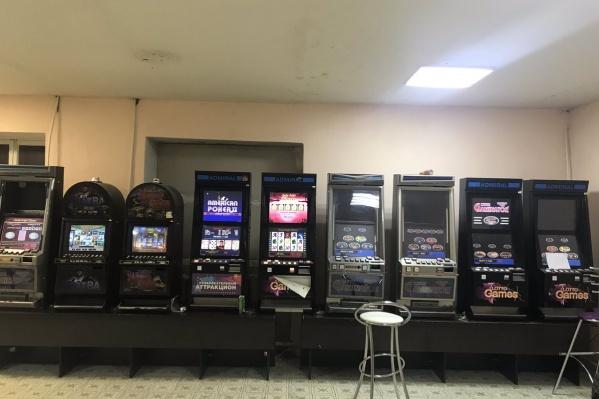 В помещении обнаружили 9 игровых автоматов<br><br>