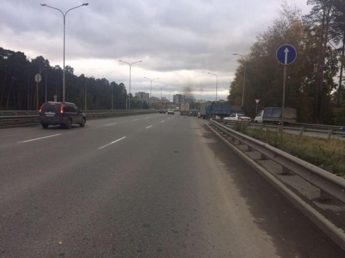 Снимок участка дороги, где произошла авария