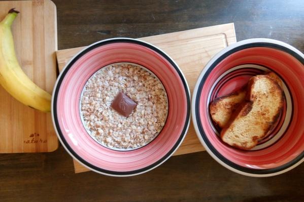 Сегодняшний завтрак участника проекта —Егора Соверенского