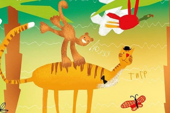 Такие яркие рисунки скоро появятся во всех детских поликлиниках Прикамья