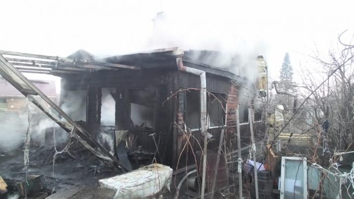 Под Екатеринбургом дачники, не затушившие огонь в печи, сожгли собственный дом