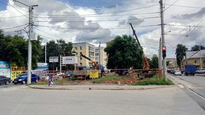 В Уфе на бульваре Ибрагимова высадят деревья