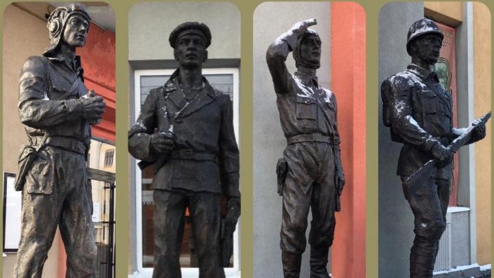 В центре Самары установили скульптурную композицию в честь армейцев
