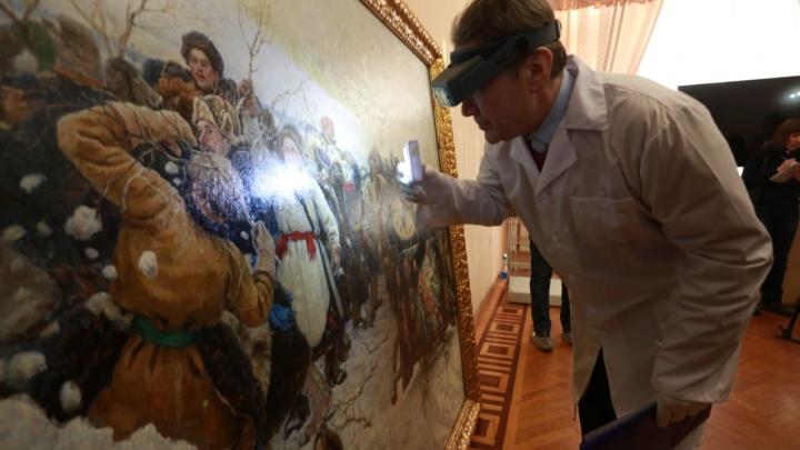 В Красноярск привезли подлинник картины Сурикова «Взятие снежного городка»