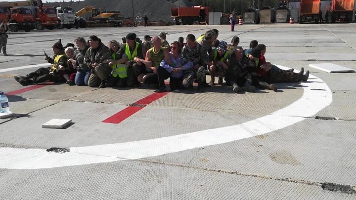 Полиция предупредила активистов на Шиесе об «уголовке» за препятствование посадке вертолетов