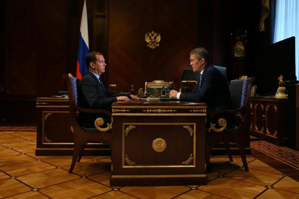 Судя по сумме дотации, Дмитрий Медведев оценил эффективность деятельности Радия Хабирова достаточно высоко