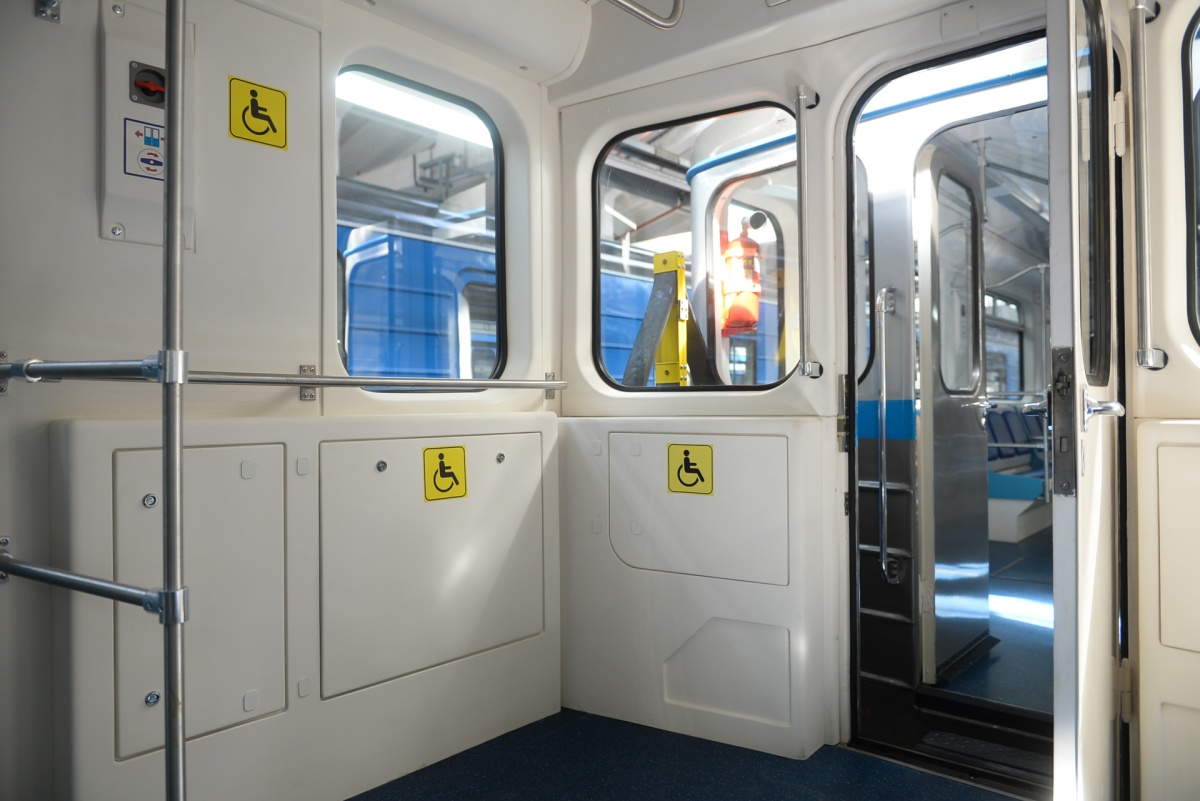 В вагонах предусмотрены места для маломобильных пассажиров