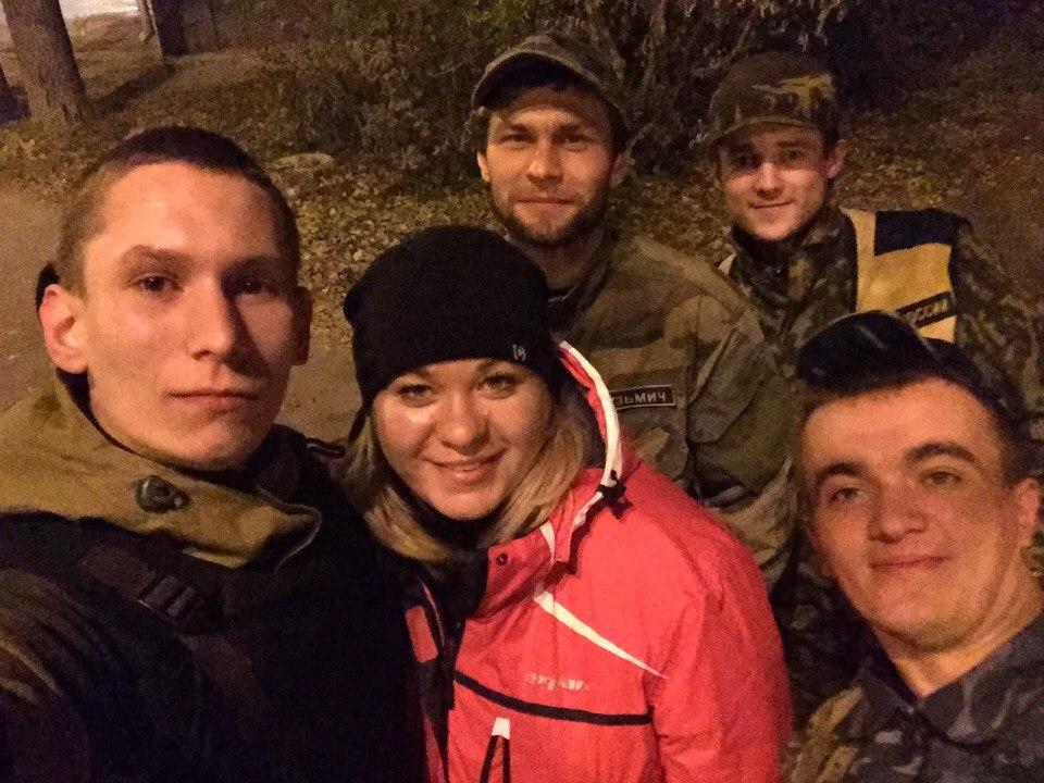 Наталия и другие участники отряда. Во втором ряду по центру — Николай
