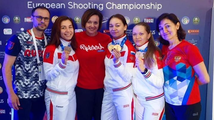 Молодая спортсменка из Красноярска стала чемпионкой Европы по стрельбе и установила мировой рекорд