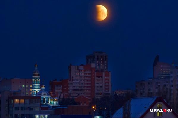 Ранним утром 21 января жители республики наблюдали первое в этом году лунное затмение