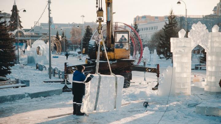 Ледовый городок — 2019 в Тюмени: смотрим, что создают архитекторы на главной площади города