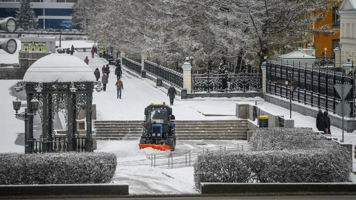 Пока не привыкли к зиме: фоторепортаж с заснеженных улиц Екатеринбурга