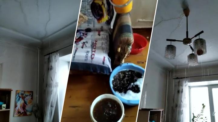 «Кипяток лился на ребёнка и жену»: комнату в новосибирском доме залило из-за неудачного ремонта