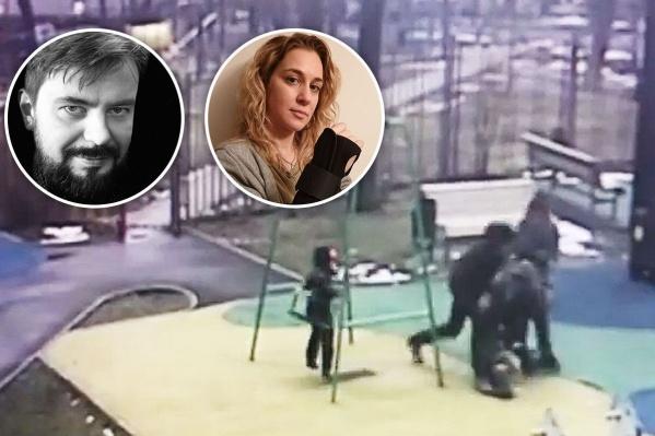 Конфликт бывших супругов произошел прямо на детской площадке