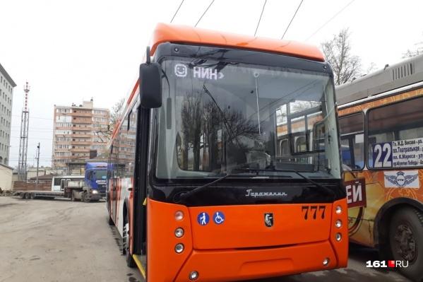 Новый троллейбус «Горожанин» всю неделю будет эксплуатироваться на маршрутах Ростова
