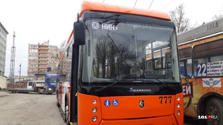 В Ростове испытывают троллейбус из Уфы