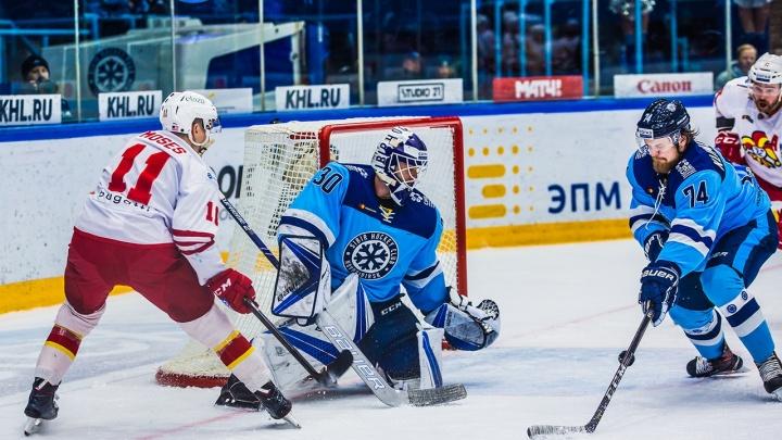 Хоккей: «Сибирь» уступила финской команде в тяжелейшем матче