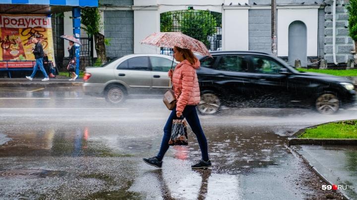 Тепло, но возможны дожди. Публикуем прогноз погоды в Прикамье на неделю