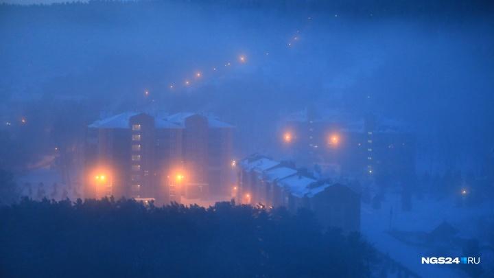 Как красноярцы пережили 40-градусный мороз в 9 фото