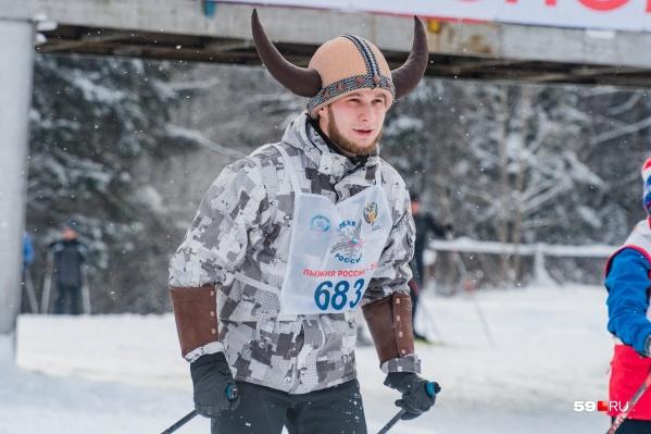 Викинги еще не перевелись. Как видим, иногда их можно встретить на «Лыжне России»