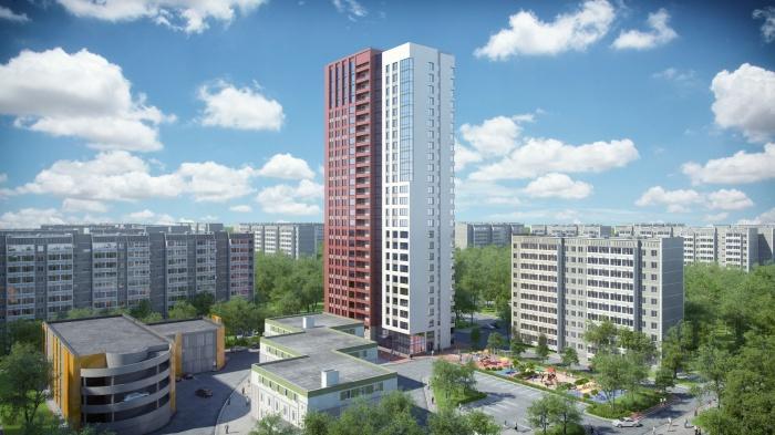 «Родонитовый» будет в среднем на 10 этажей выше окружающих зданий