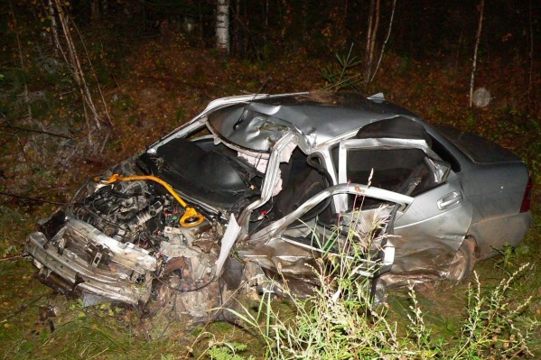 Водители погибли на месте. Обе машины в разрушенном состоянии