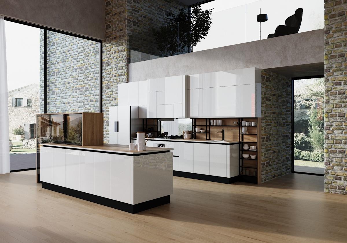 Стоимость кухонь в «Кухонном дворе» — от 90 тысяч рублей. Набор в стиле минимализм впишется в любой интерьер, будь то авторский «лофт» или классика
