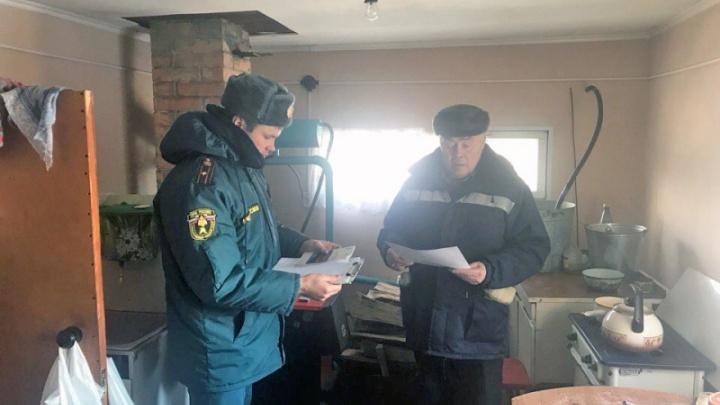 Накануне при пожаре в двух частных домах в Зауралье погибли трое