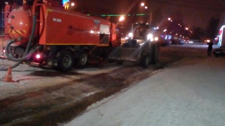 В Уфе в конце декабря забил ледяной фонтан