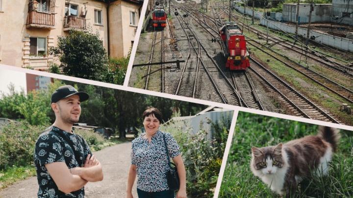Дома эпохи Сталина, шныряющие коты и тоска по паровозам: изучаем район молчаливых железнодорожников