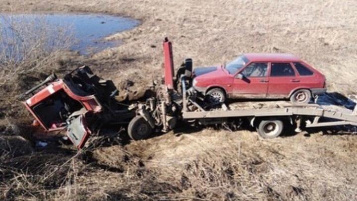 В Башкирии водитель эвакуатора попал под колеса своей же машины и погиб