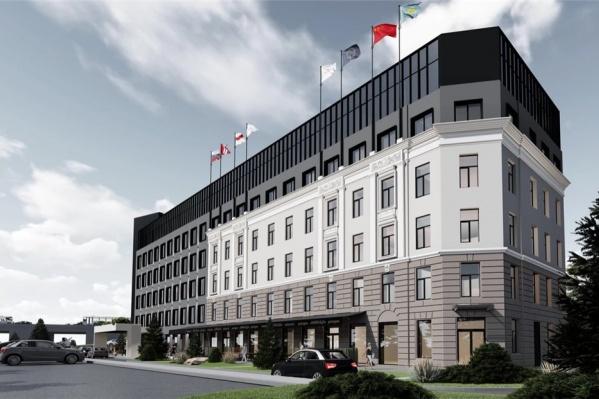 Так будет выглядеть новый отель в центре Омска