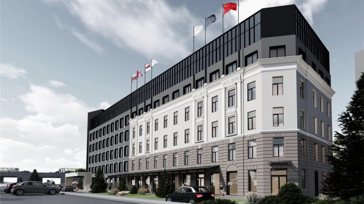 Московское архитектурное бюро показало эскизы новой четырёхзвёздочной гостиницы на Щербанёва