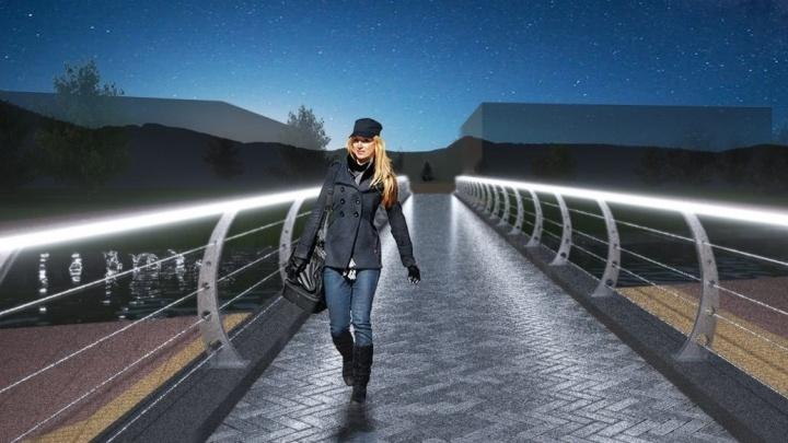 """В районе аквапарка """"Лимпопо"""" построят новый пешеходный мост через Исеть"""
