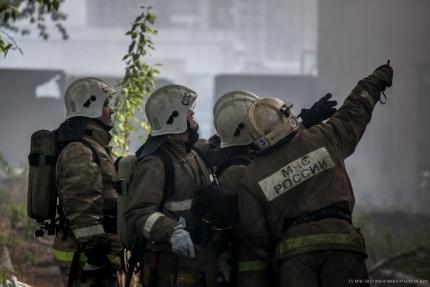 Цех с маслом загорелся на заводе имени Кузьмина в Новосибирске