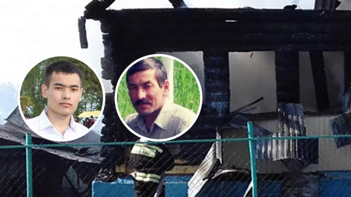 В Башкирии отец и сын на руках вынесли из горящего дома инвалида