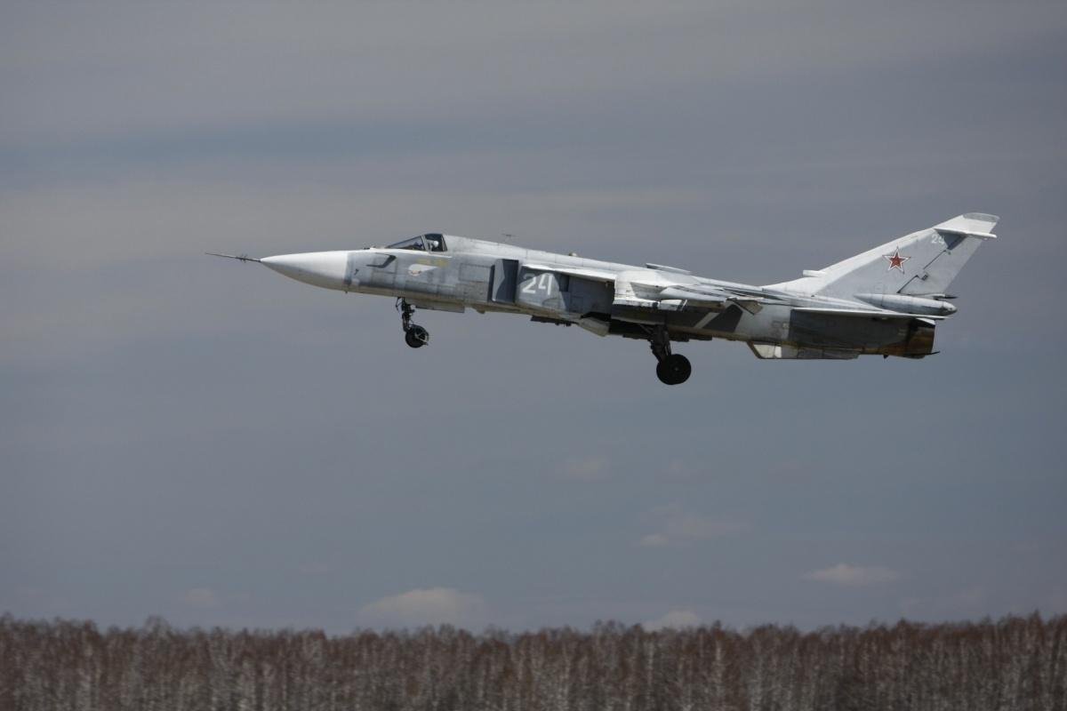 Бомбардировщик Су-24, с которого был выпущен снаряд, относится к военной части 86789 «Шагол»