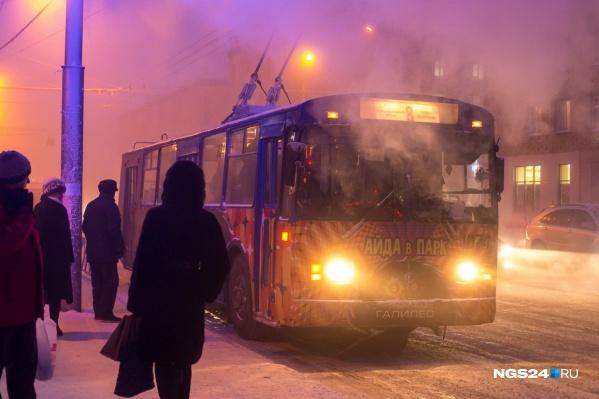 Так выглядят старые троллейбусы в Красноярске