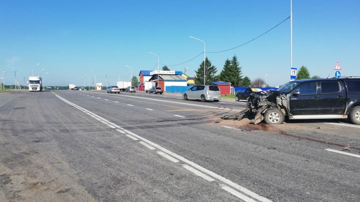 Вдребезги: на трассе в Башкирии столкнулись «Газель» и внедорожник Toyota
