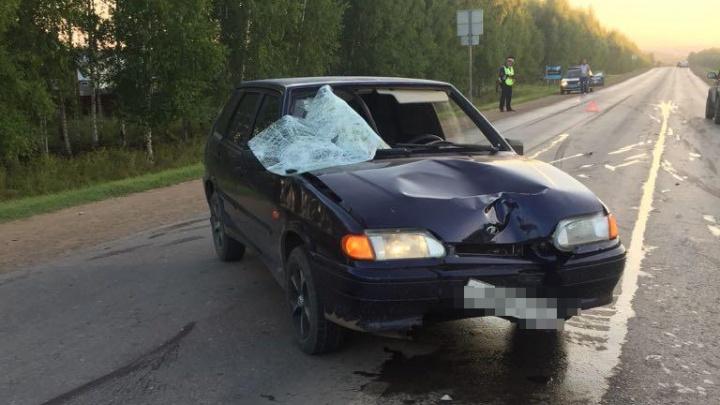 Был ослеплен светом фар: под Уфой водитель за рулем ВАЗ-2114 сбил пешехода