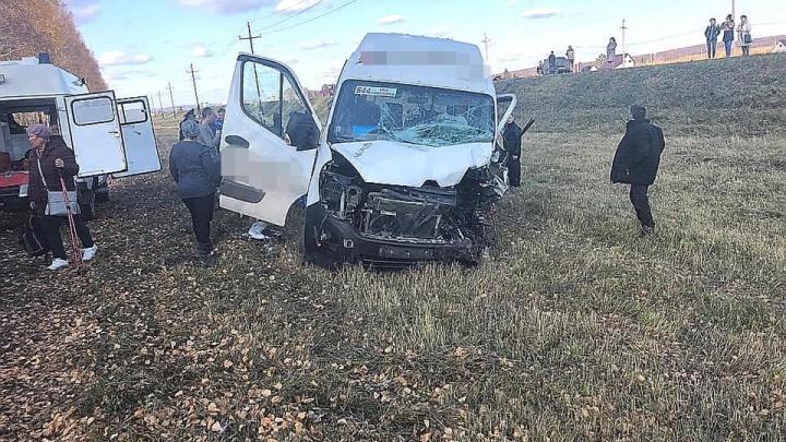 В Башкирии лоб в лоб столкнулись маршрутка и Renault Logan, есть погибшие