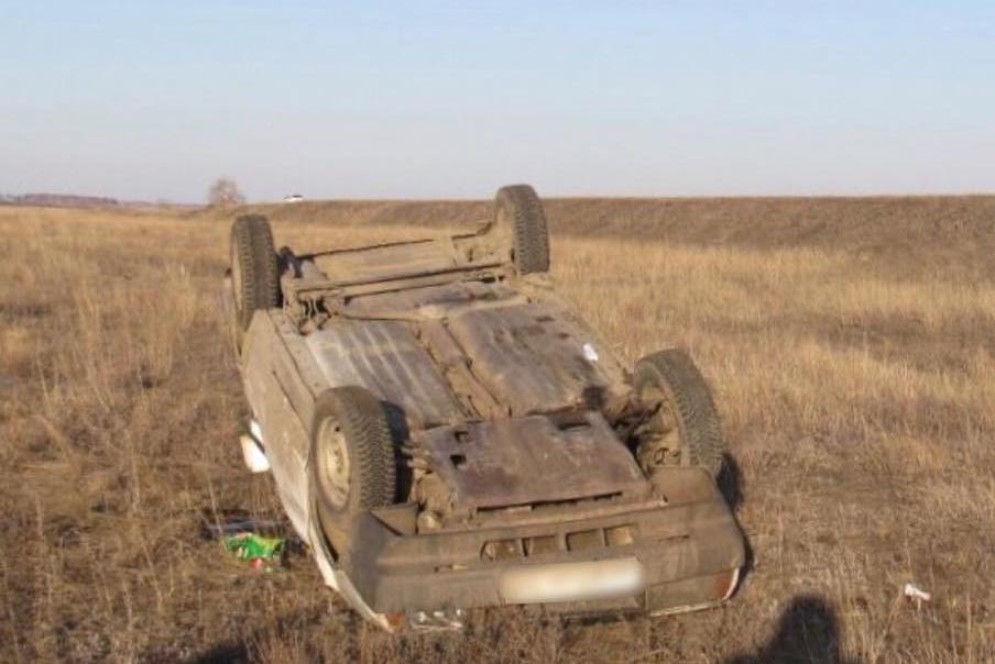Шофер и пассажир получили травмы