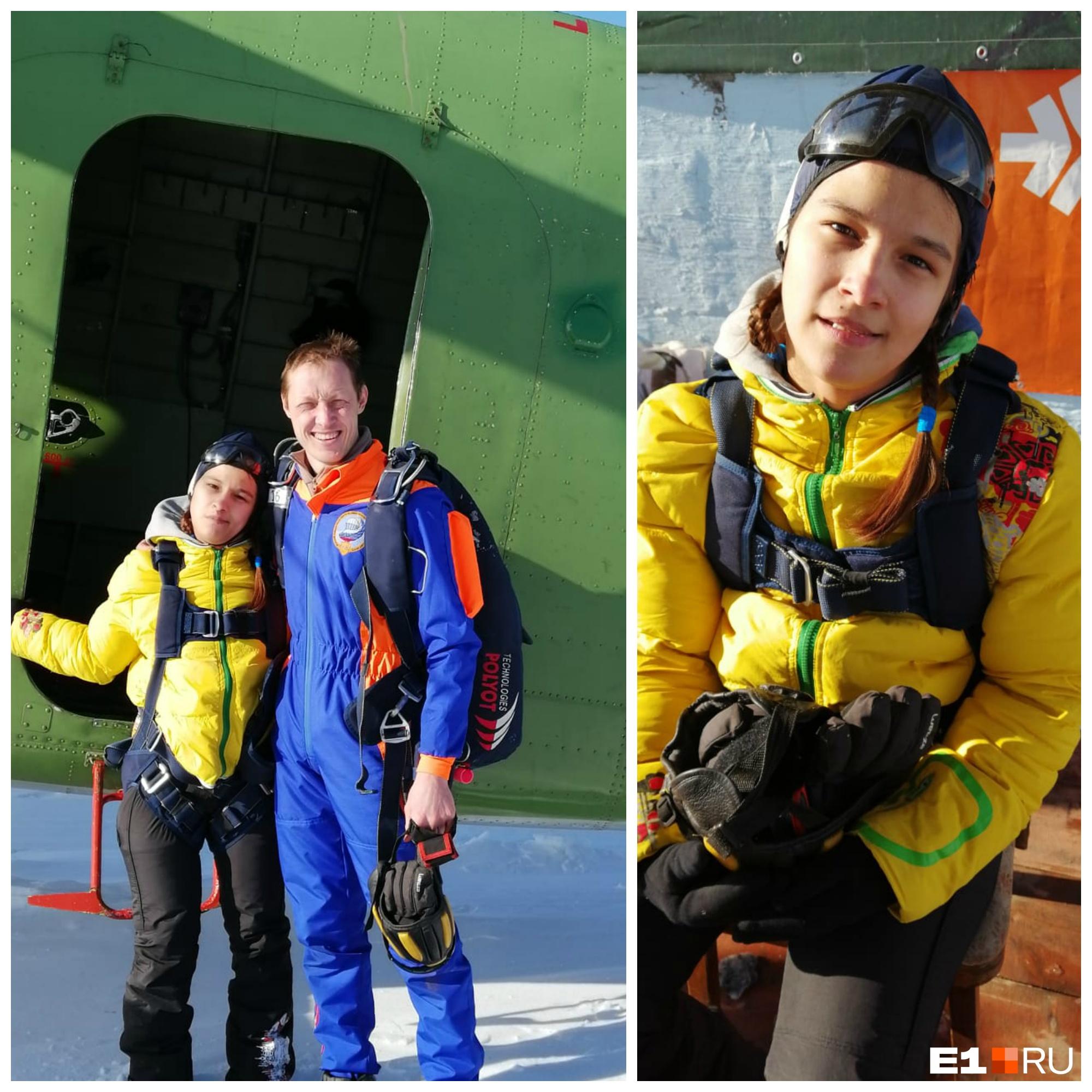 В прошлом году Настя прыгнула с парашютом
