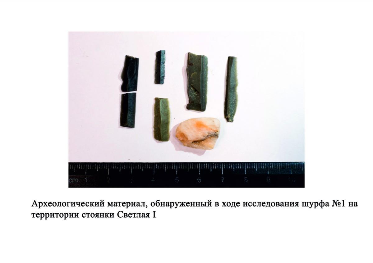 Фрагменты ножевидных пластин, которые служили частью вкладышевых орудий