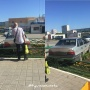 «Я паркуюсь, как...»: Daewoo Nexia в цветах на Широтной и грузовая «Газель» на детской площадке