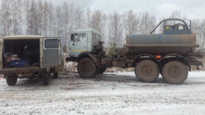 Смертельное ДТП в Башкирии: лоб в лоб столкнулись КАМАЗ и УАЗ