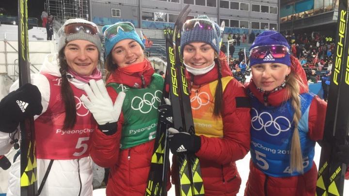 Российские лыжницы завоевали бронзу в эстафете на Олимпиаде